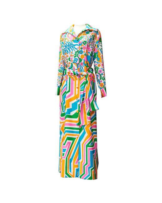 Lanvin - Blue Vintage Multicolour Other Dress - Lyst