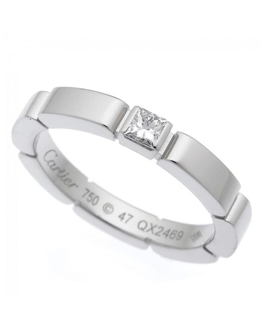 Cartier - Metallic Pre-owned Maillon Panthère Silver White Gold Rings - Lyst
