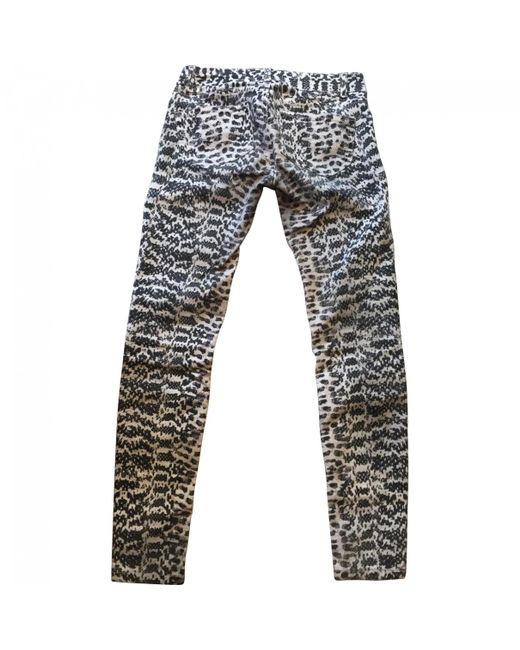 Maje - Gray Grey Cotton - Elasthane Jeans - Lyst