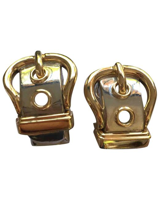 Hermès - Metallic Silver Earrings - Lyst