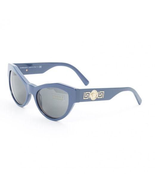 636413bc9e ... Versace - Pre-owned Blue Plastic Sunglasses - Lyst ...