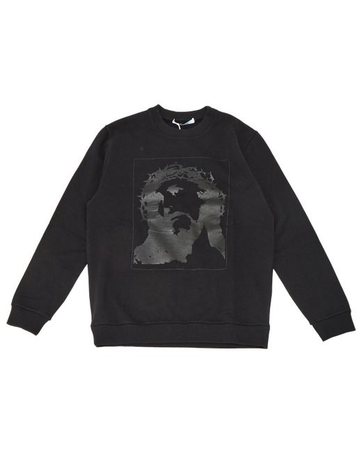 Givenchy - Pre-owned Black Cotton Knitwear & Sweatshirt for Men - Lyst