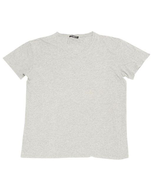 Balmain | Gray Pre-owned Grey Cotton T-shirt for Men | Lyst