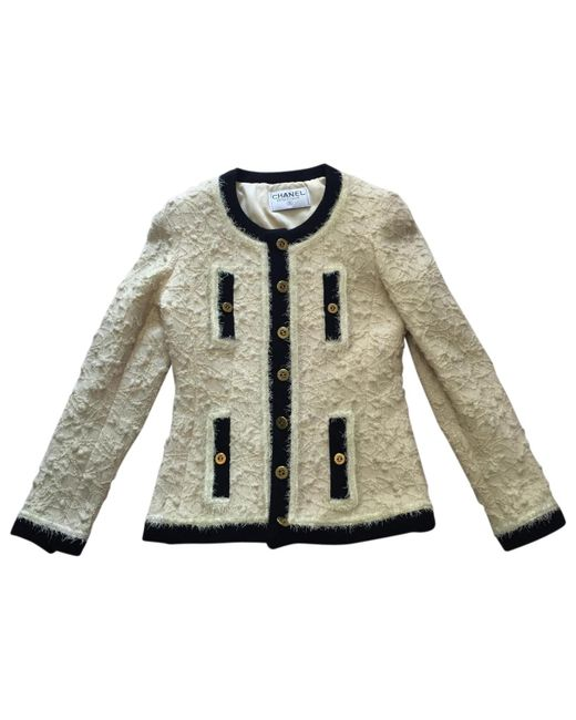 Chanel - Natural 100% Authentic Boutique 1994 Vintage Classic Boucle Jacket - Lyst