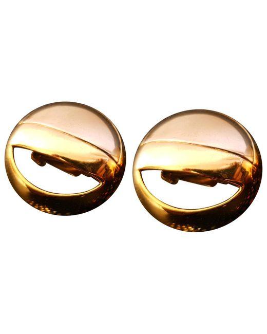 Lanvin - Metallic Pre-owned Vintage Silver Metal Earrings - Lyst