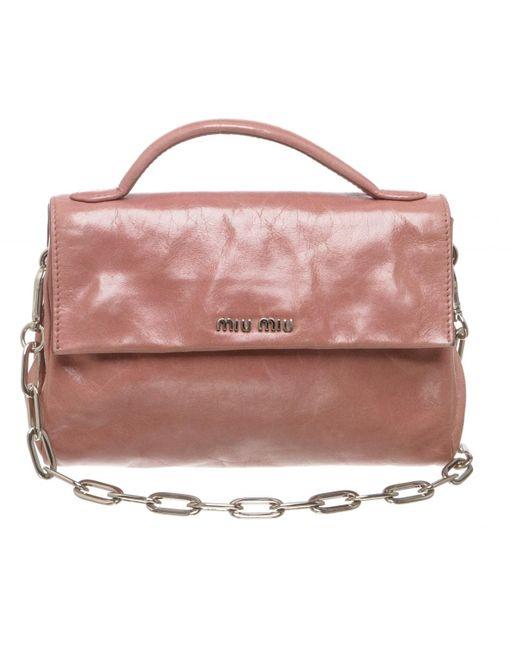 Lyst - Miu Miu Pre-owned Pink Leather Handbags in Pink ba693864bd8a7