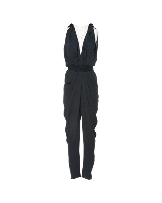 Lanvin - Green Polyester Jumpsuits - Lyst