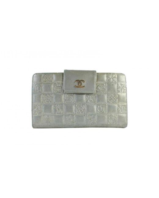 Chanel - Metallic Pre-owned Leather Clutch Bag - Lyst