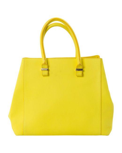 Victoria Beckham - Yellow Leather Handbag - Lyst