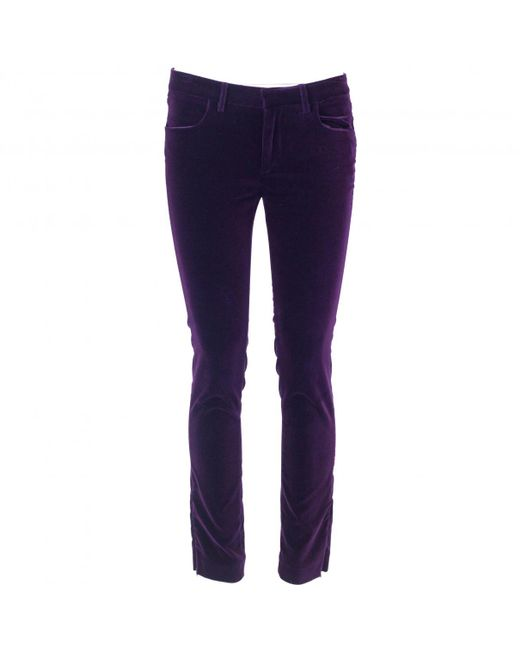 Victoria Beckham - Purple Slim Jeans - Lyst