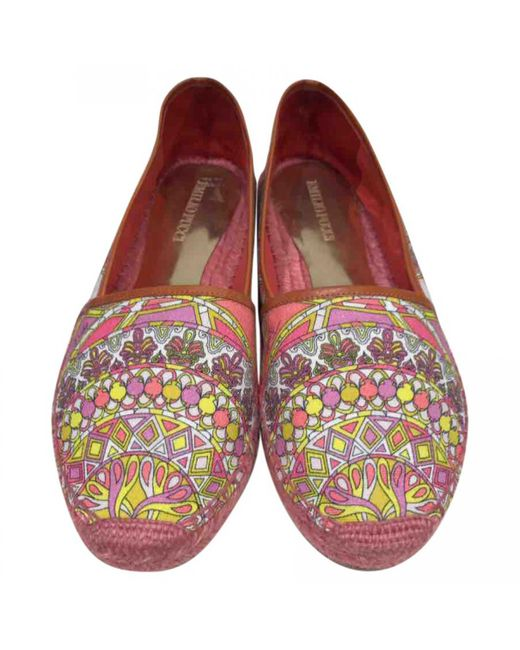 Emilio Pucci - Multicolor Pre-owned Cloth Flats - Lyst
