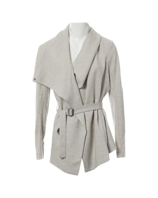 Helmut Lang - Gray Pre-owned Wool Jacket - Lyst