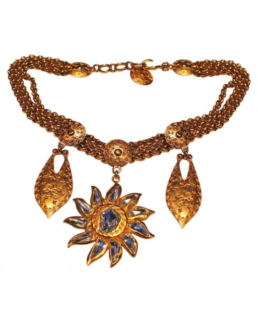 Dior - Metallic Gold Necklace - Lyst