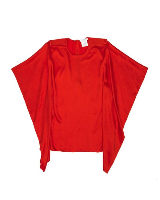 Givenchy - Red Pre-owned Silk Blouse - Lyst