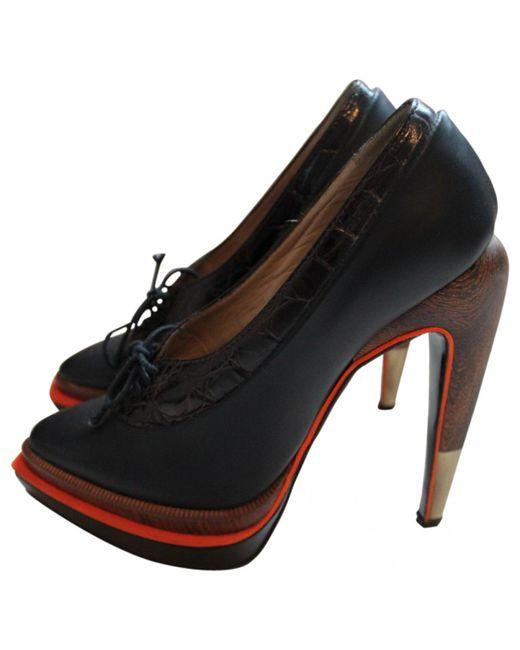 Proenza Schouler - Black Leather Heels - Lyst