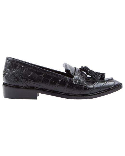 The Kooples - Black Leather Flats - Lyst