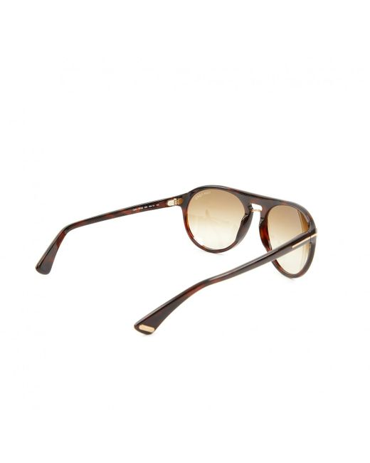 aed2996c18 Tom Ford Brown Plastic Sunglasses in Brown for Men - Lyst