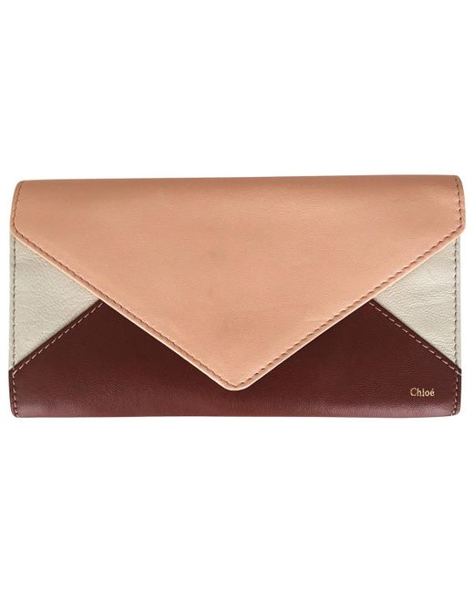 Chloé - Brown Leather Wallet - Lyst