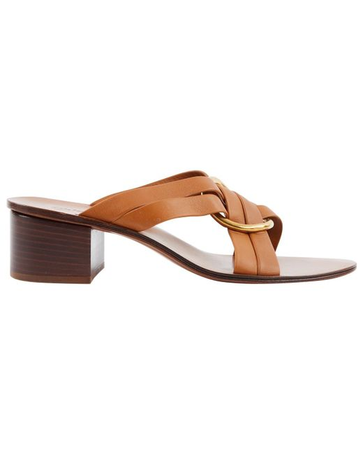 Chloé - Brown Leather Heels - Lyst