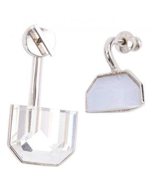 Dior - Metallic Set Crystal Earrings - Lyst