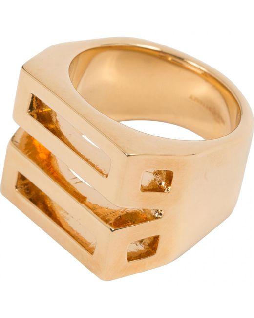 Chloé - Metallic Gold Metal Ring - Lyst