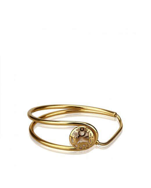Louis Vuitton - Metallic Gold Metal Bracelet - Lyst