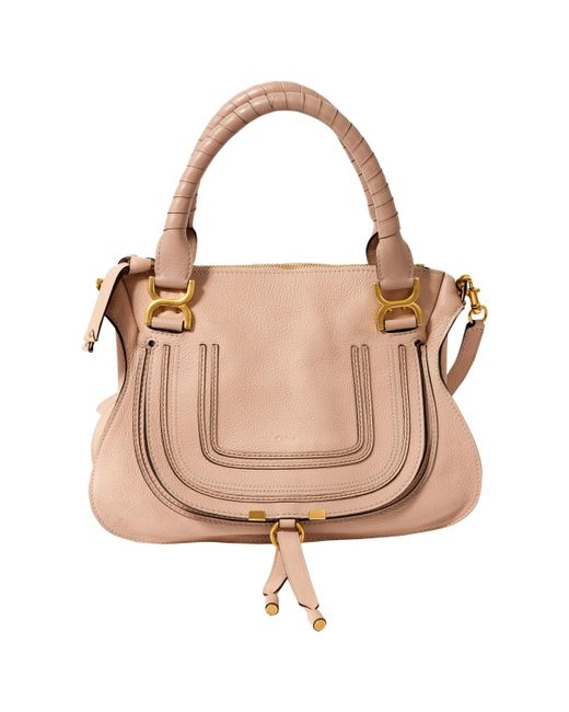 Chloé - Marcie Pink Leather Handbag - Lyst