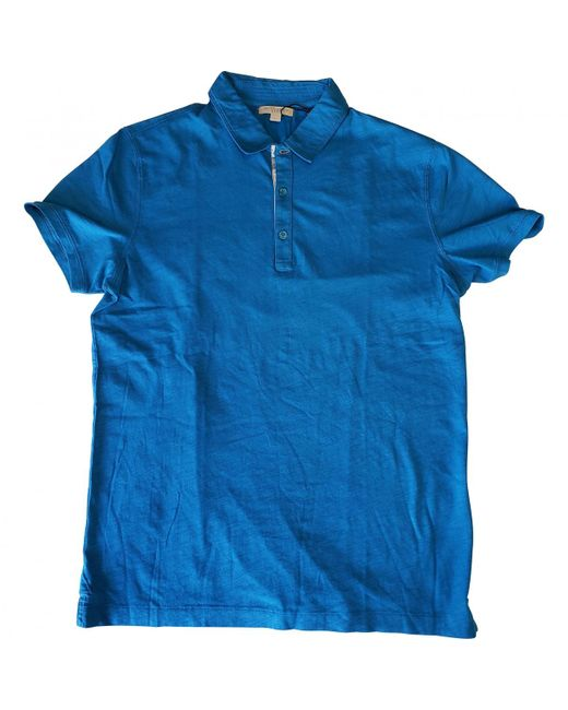 Burberry - Blue Polo Shirt for Men - Lyst