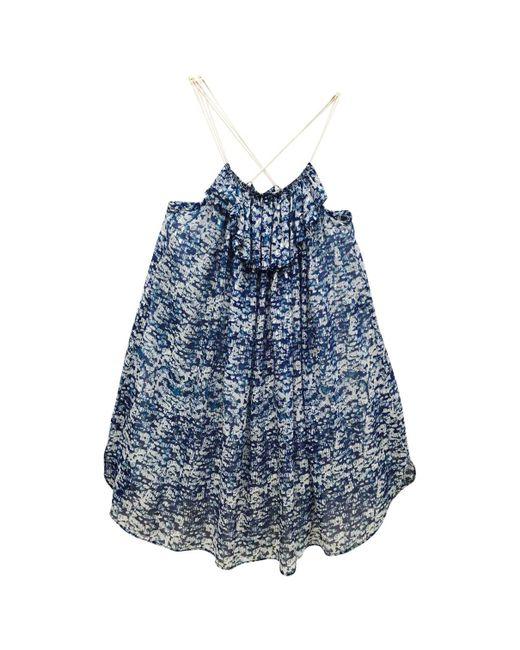 Étoile Isabel Marant - Blue Silk Mini Dress - Lyst