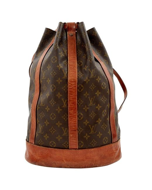 Louis Vuitton - Pre-owned Vintage Brown Cloth Backpacks - Lyst
