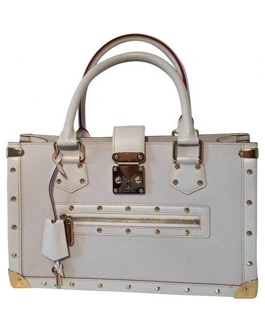 Louis Vuitton - Multicolor Petit Malle Leather Handbag - Lyst