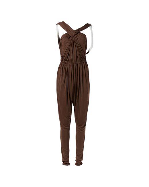 Lanvin - Brown Jumpsuit - Lyst