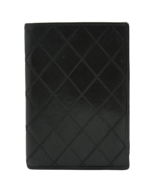 Chanel - Black Timeless Leather Wallet for Men - Lyst