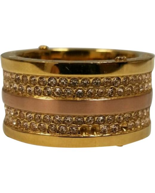 Michael Kors - Metallic Gold Metal Ring - Lyst