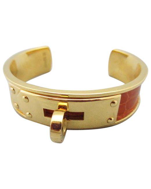 Hermès - Metallic Kelly Python Bracelet - Lyst