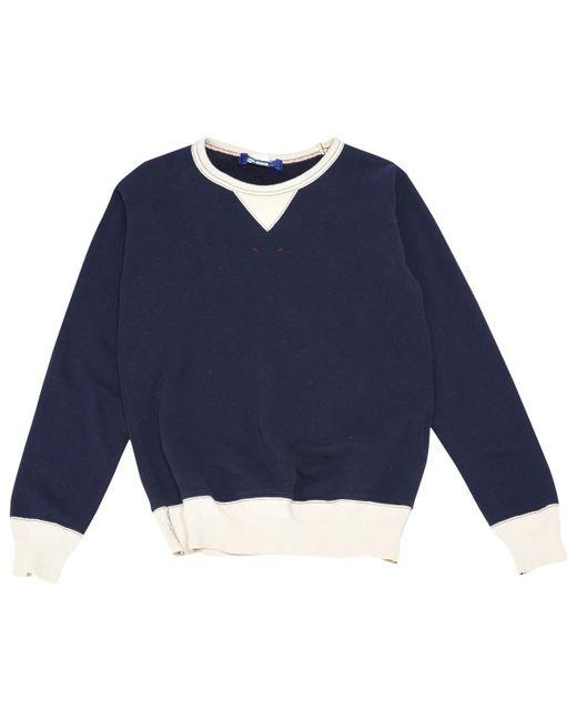 Comme des Garçons - Blue Navy Cotton Knitwear & Sweatshirt for Men - Lyst