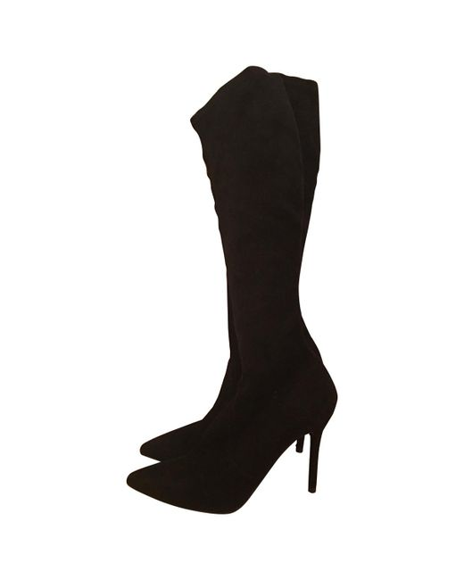Stuart Weitzman - Black Riding Boots - Lyst