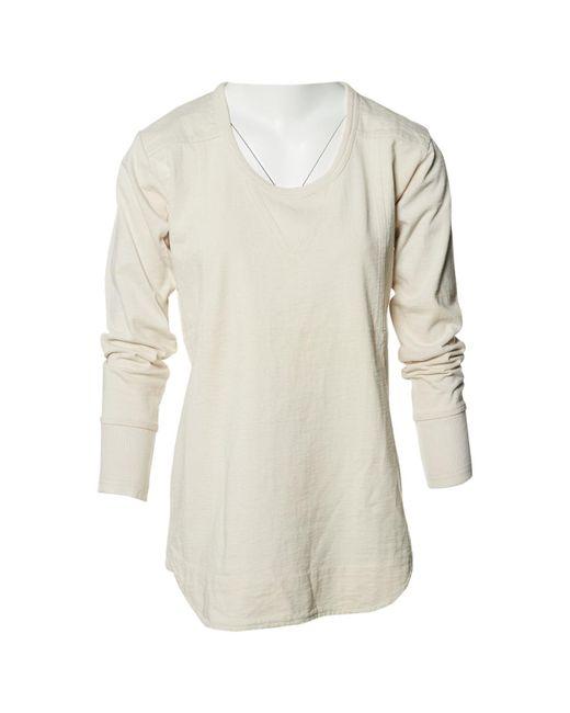 Isabel Marant - Multicolor Ecru Cotton Knitwear - Lyst