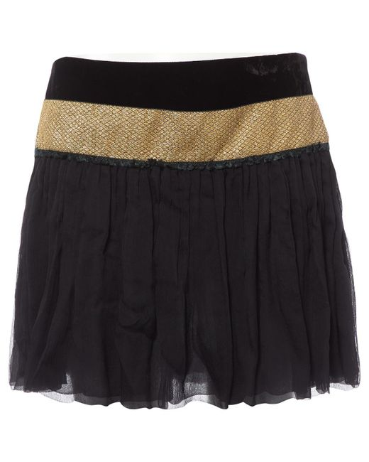 Roberto Cavalli - Black Silk Skirt - Lyst