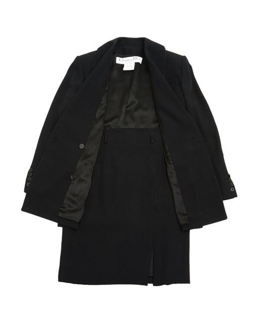 Dior - Vintage Black Synthetic Jacket - Lyst
