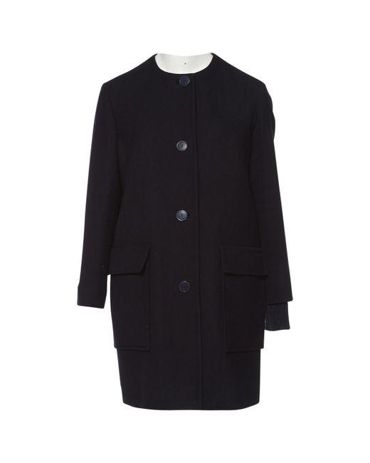 Stella McCartney - Pre-owned Blue Wool Coats - Lyst