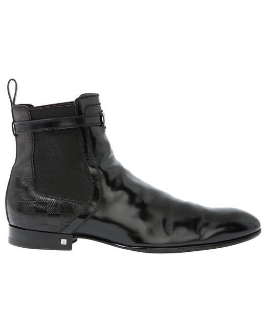 Louis Vuitton - Black Boots en cuir for Men - Lyst