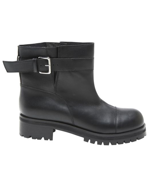 Marni - Black Leather Biker Boots - Lyst