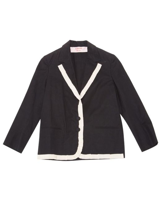 Lanvin - Blue Navy Cotton Jacket - Lyst