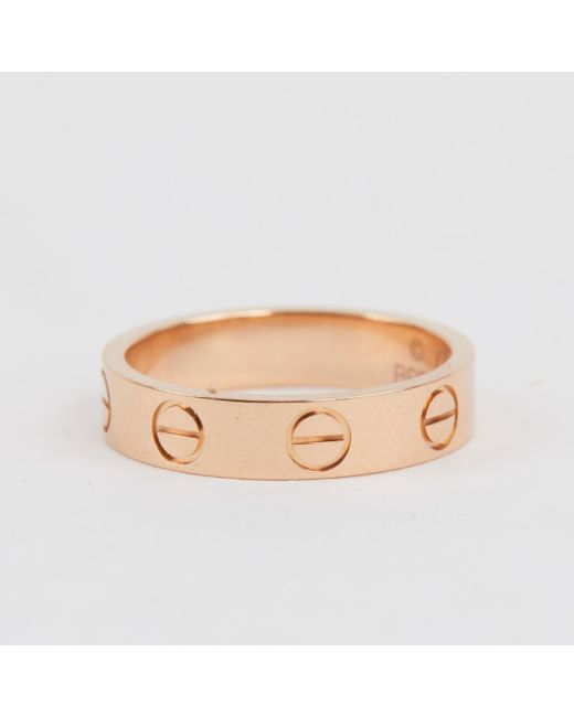Cartier - Love Pink Pink Gold Ring - Lyst