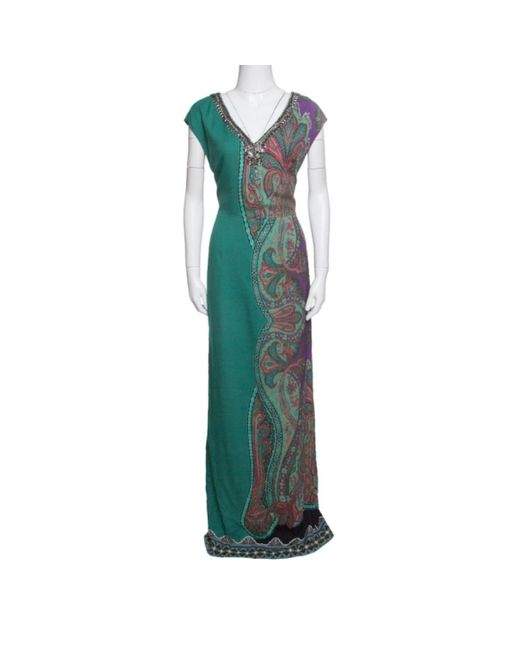 Etro Green Viscose Dress