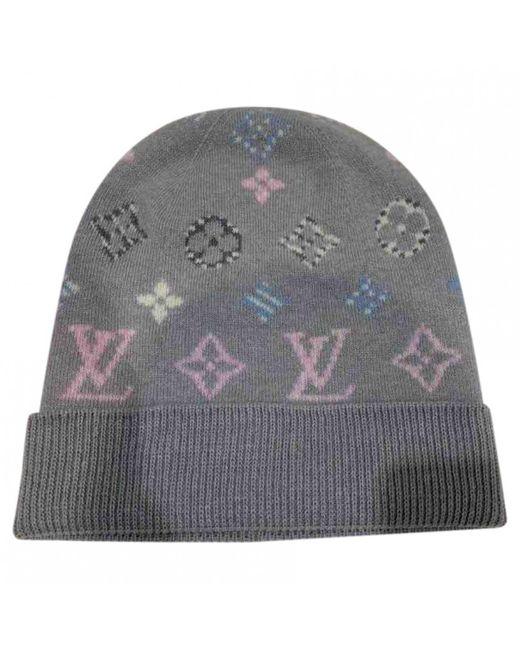 Louis Vuitton Wool Hat in Gray - Lyst b5a119035f1