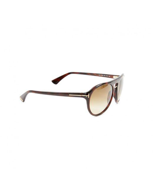 ef64239d8f ... Tom Ford - Brown Plastic Sunglasses for Men - Lyst ...