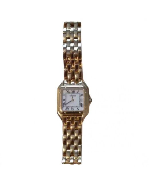 Cartier - Metallic Pre-owned Panthère Yellow Gold Watch - Lyst