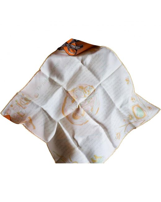 Hermès Gray Gavroche 45 Multicolour Silk Scarves